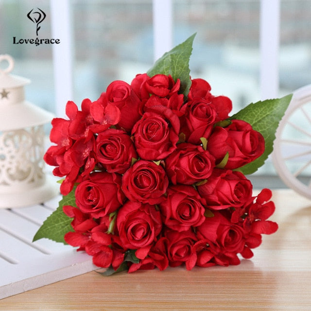 New Release: Handmade Red Rose Wedding Bouquet - Rumor Flowers