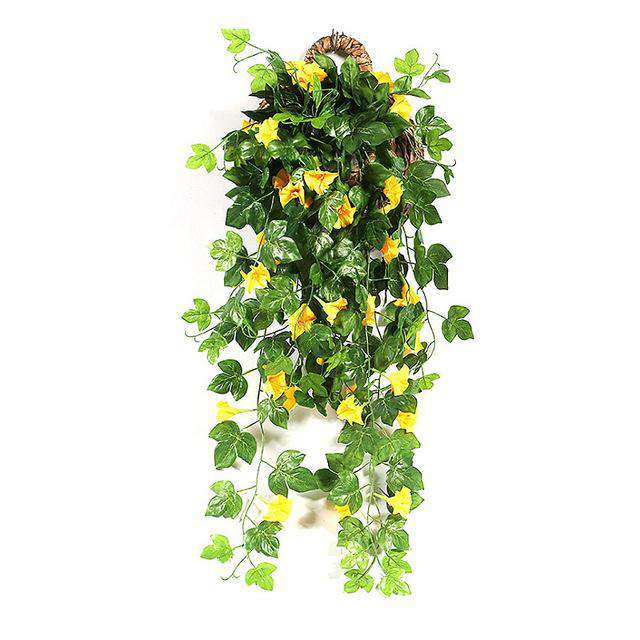 Petunia Green Leaf Artificial Flower Hanging Vine - Rumor Flowers