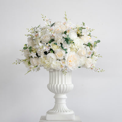 Big Flower Collection: Silk Hydrangea Rose Decorative Centerpiece - Rumor Flowers