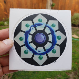 Crystal Grid Vinyl Sticker