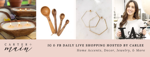 Text GOLIVE to 29071 for SMS updates on our new Facebook Live Shopping Experience Tuesdays + Thursdays at 7pm CST!