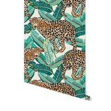 Jungle Leopard Banana Leaf