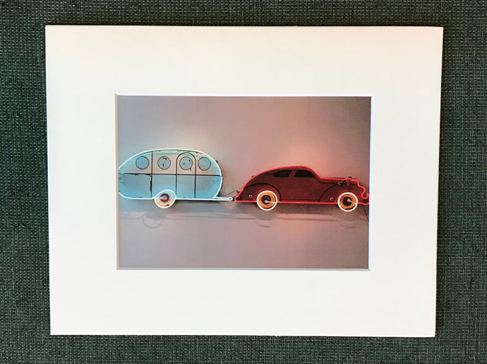 Print: Car and Travel Trailer