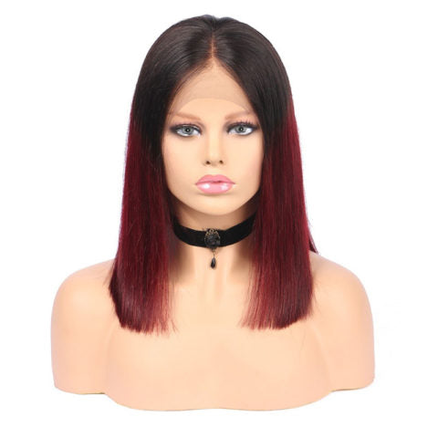 2Tone Burgandy/1b - Lace Frontal Bob Wig-Wigs-House of Zettie Hair