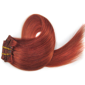Dark Auburn Clip-In Hair Extensions-Clip In Extensions-House of Zettie Hair