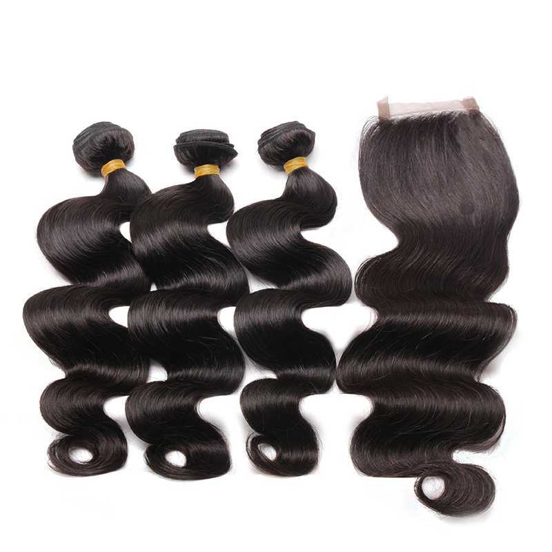 Hair Extension Bundle Deal with a Closure