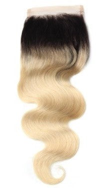 1b/613 Blonde Body Wave Lace Closure-Lace Closures-House of Zettie Hair