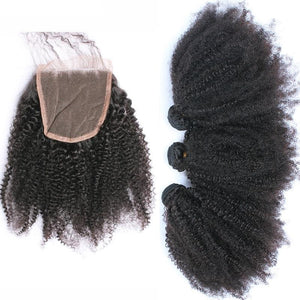 Afro Kinky Lace Closure-Lace Closures-House of Zettie Hair