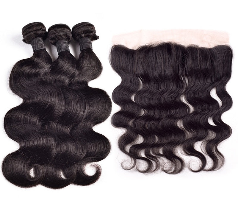 Hair Extension Bundle Deal with a Lace Frontal