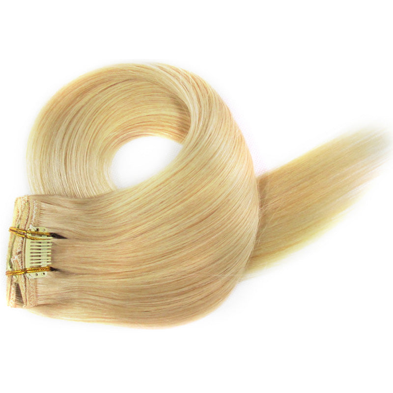 Golden Blonde Clip-In Hair Extensions