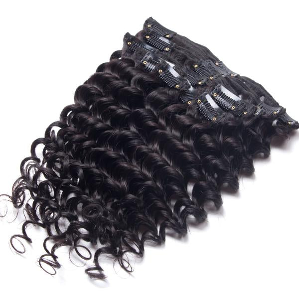 Deep Curly Clip-In Hair Extensions