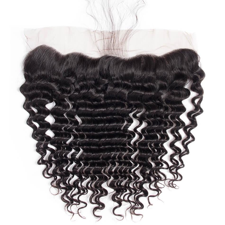 Brazilian Deep Wave Lace Frontal-Lace Frontal-House of Zettie Hair