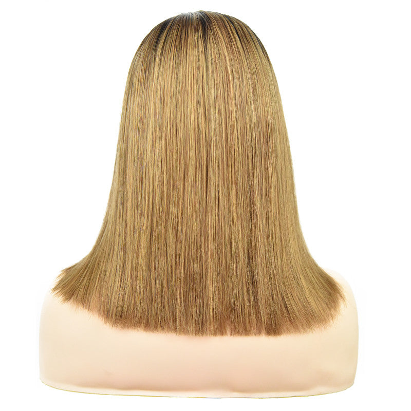 Ombre Glueless Lace Frontal Bob Wig-Wigs-House of Zettie Hair