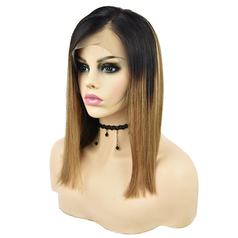 Ombre Glueless Lace Frontal Bob Wig