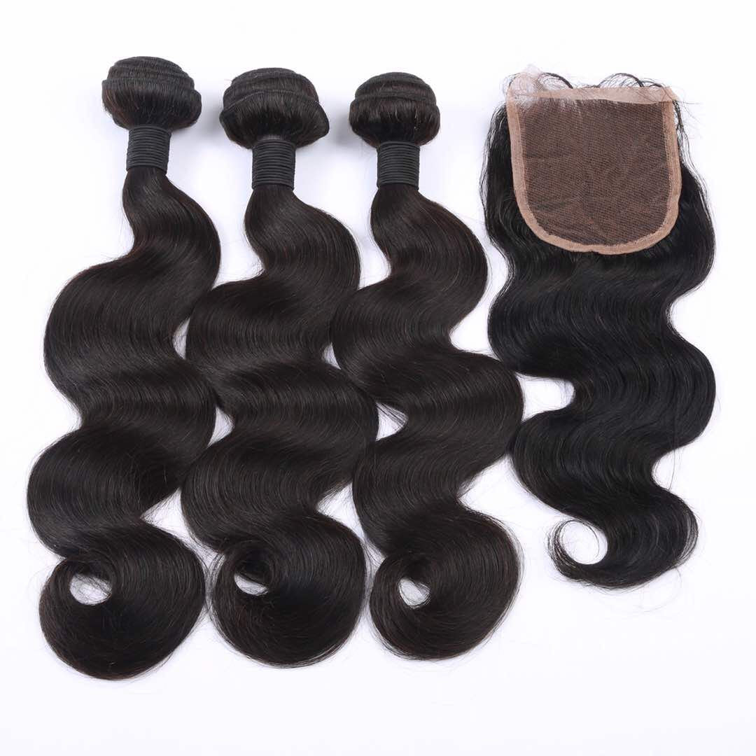 Hair Extension Bundle Deal with a Closure-Body Wave Hair Extensions-House of Zettie Hair