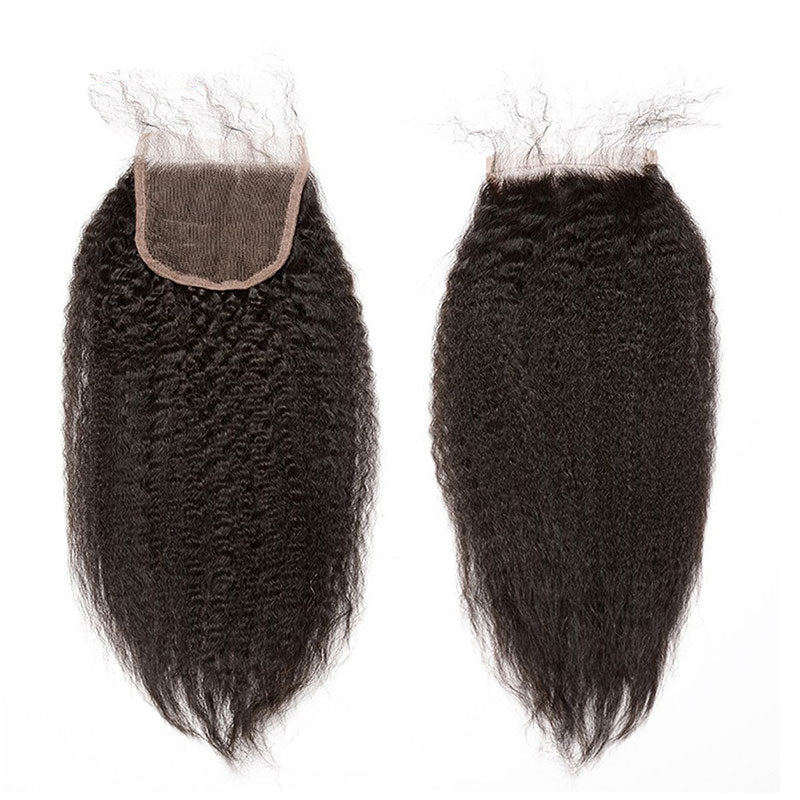 Kinky Straight Lace Closure-Lace Closures-House of Zettie Hair