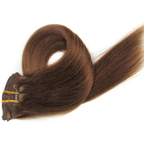 Medium Brown Clip-In Hair Extensions