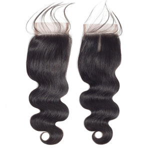 Body Wave Silk Base Closure-Lace Closures-House of Zettie Hair