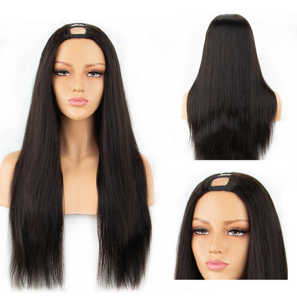 Silky Straight U Part Wig