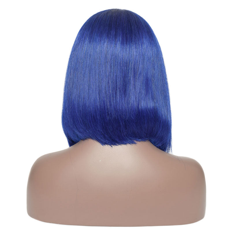 Blue - Lace Frontal Bob Wig-Wigs-House of Zettie Hair