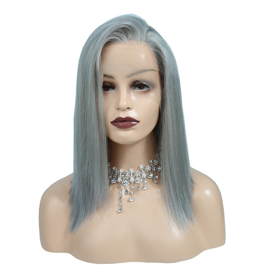 Grey - Lace Frontal Bob Wig-Wigs-House of Zettie Hair