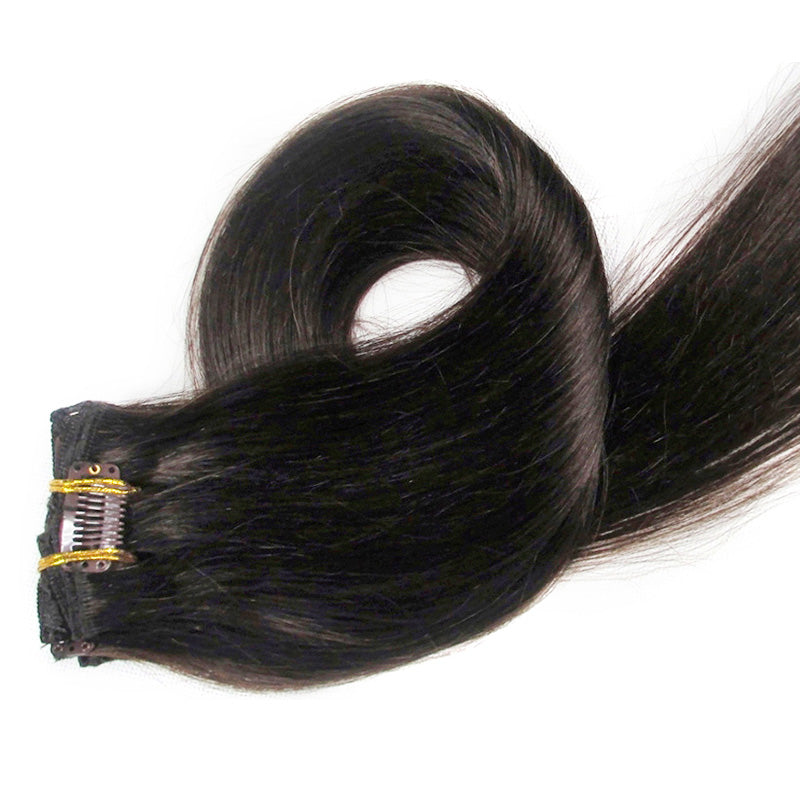 #2/Brownish Black Clip-In Hair Extensions-Clip In Extensions-House of Zettie Hair