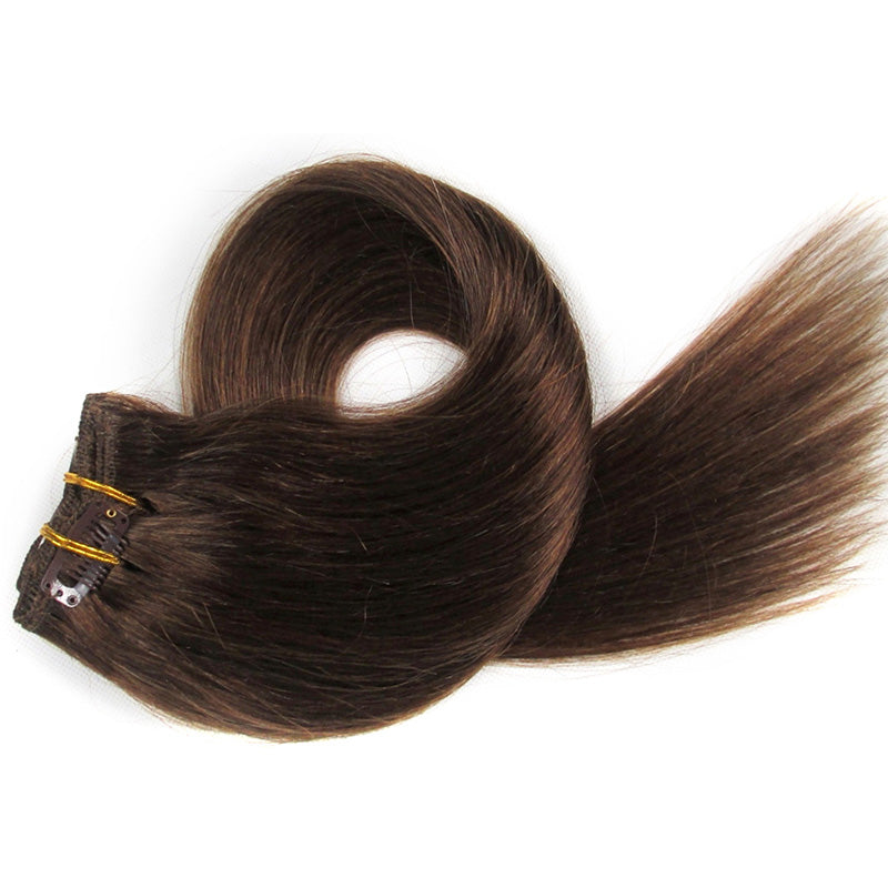 Chestnut Brown Clip-In Hair Extensions-Clip In Extensions-House of Zettie Hair