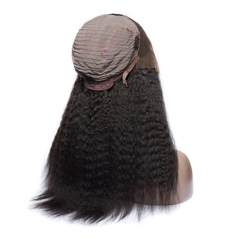 Kinky Straight - Lace Frontal Wig