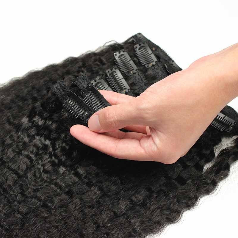 Kinky Straight Clip-In Hair Extensions