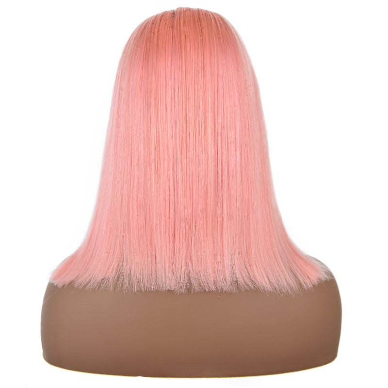 Pink - Lace Frontal Pre-Plucked Bob Wig