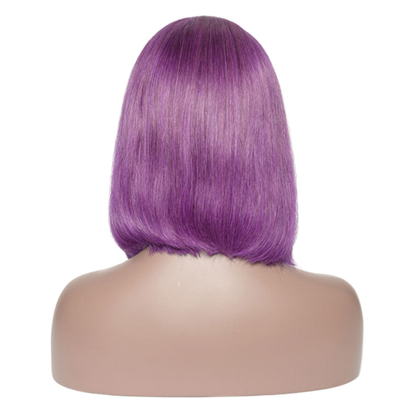 Purple - Lace Frontal Bob Wig