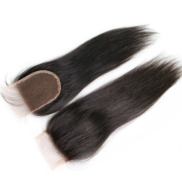 Silky Straight Silk Base Closure