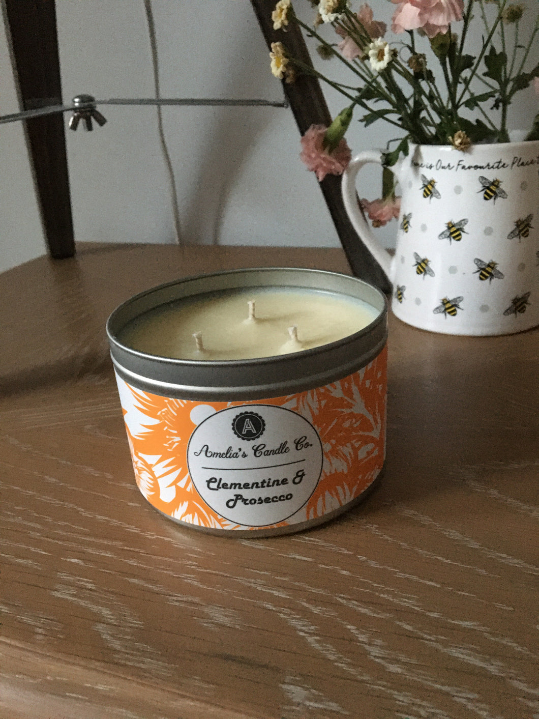 Clementine & Prosecco 3 wick Candle