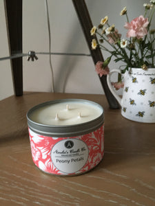Peony Petals 3 Wick Candle