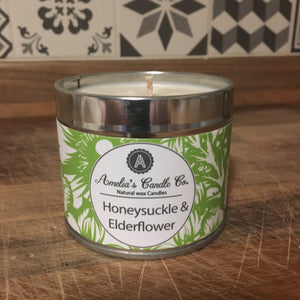 Honeysuckle & Elderflower Medium Candle
