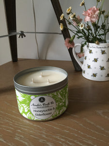 Honeysuckle & Elderflower Large Candle