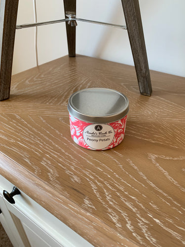Peony Petals Medium Candle - Amelia's Candle Co