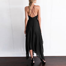 Load image into Gallery viewer, Sexy Deep V Collar Strap Sleeveless Irregular Vacation Dress
