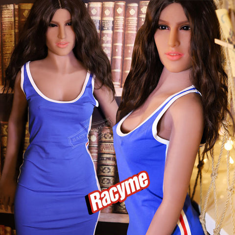 Blue Sex Girl Tan Skin Love Doll for Men Nancy