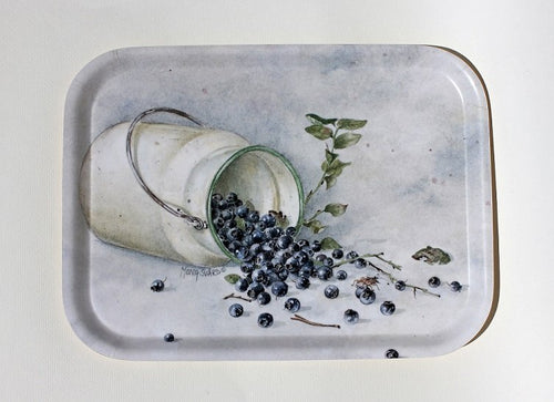 Frukost bricka/Tea tray-Blueberry/Blåbär
