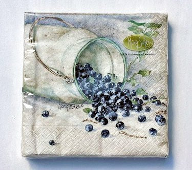 Napkin/Servett Blueberry/Blåbär