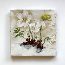Load image into Gallery viewer, Napkin / Servett Winter-Rose