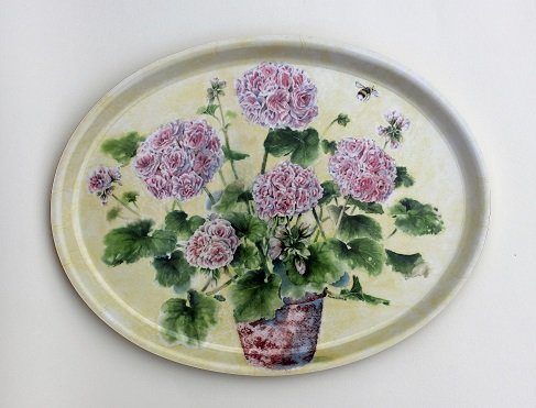Geranium/ Pelargon Oval tray
