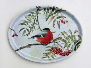 Bullfinch/Domherre Oval tray