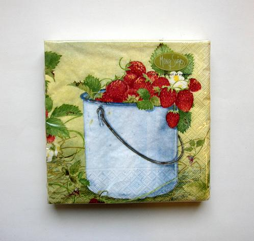 Napkin/Servett Strawberry/Jordgubb