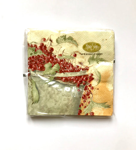 Napkins/ Servett Hink/ Red Currant