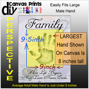 Earth Tones 12x16 Family - Love Never Ends