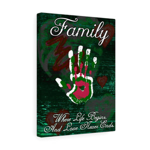 Green Envy 12x16 Family - Love Never Ends