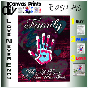 Purple Passion 12x16 Family - Love Never Ends