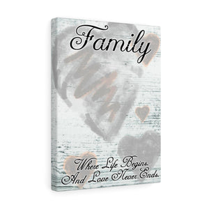 Grey Tones 12x16 Family - Love Never Ends